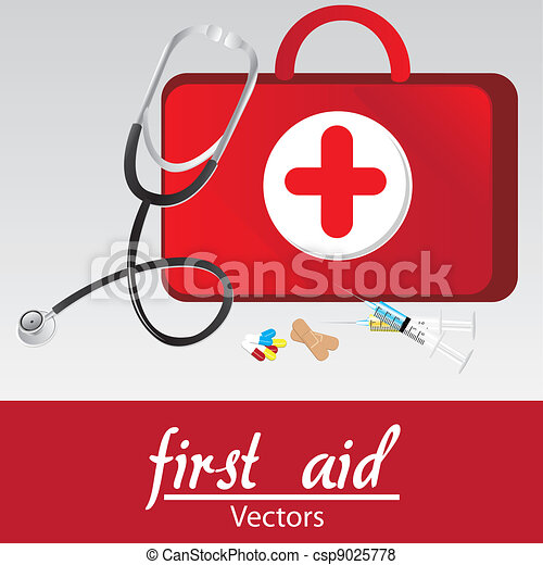 vector of first aid kit over withe bakcground  vector Hospital Clip Art Free Downloads Free Clip Art for Medical Use
