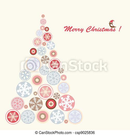 Albero di Natale stilizzato Stock image and royalty