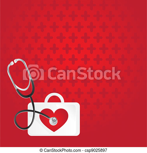 first aid, heartbeat - csp9025897