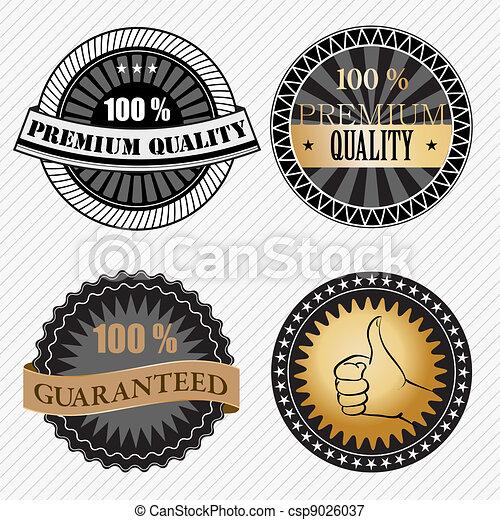 Set of vintage retro premium quality badges and labels - csp9026037