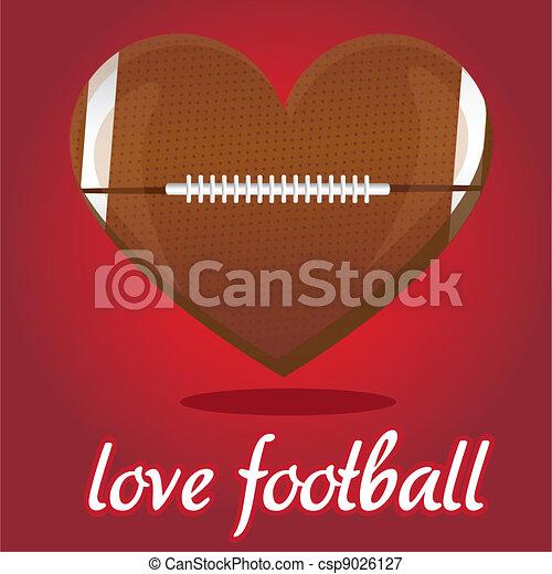 I love american footbal - csp9026127