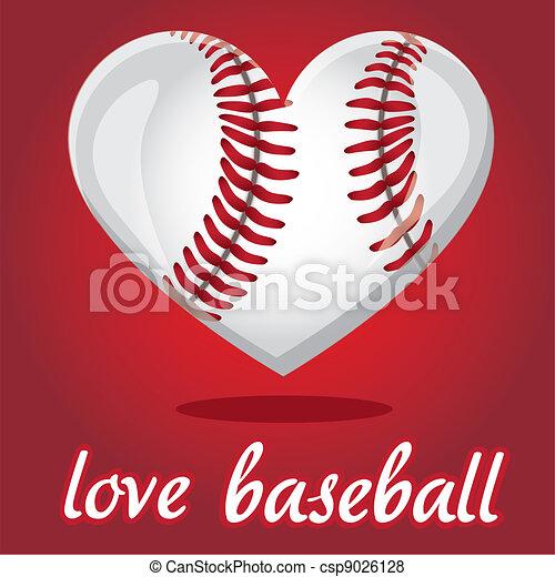 I love baseball - csp9026128