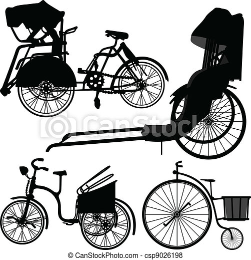 自転車の 古い自転車 : Bicycle Silhouette Clip Art Free