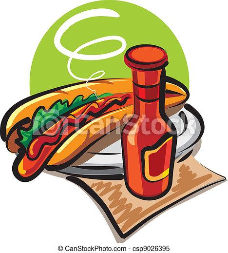 hot dog and ketchup - csp9026395