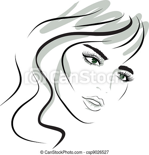 Beautiful Vector Girls And Logos From Stock Vector Beauty Girl Face