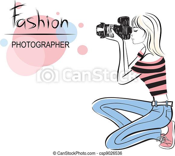 beauty fashion photographer girl - csp9026536