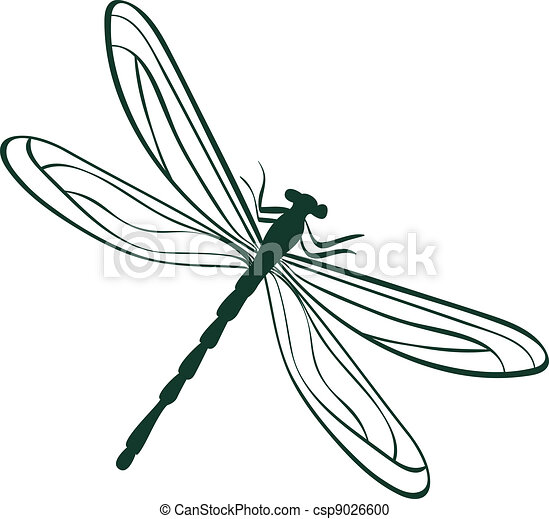 vector clipart of abstract dragonfly vector illustration abstract dragonfly csp9026600. Black Bedroom Furniture Sets. Home Design Ideas