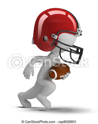 3d small people - american football - csp9026831