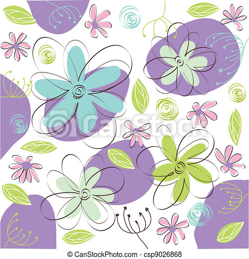 floral greeting card - csp9026868