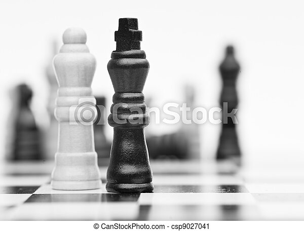 Chess game of strategy business concept application - csp9027041