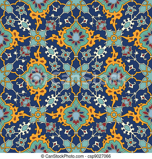 Arabesque seamless pattern - csp9027066