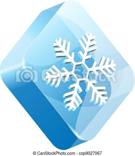 vector ice button - csp9027067