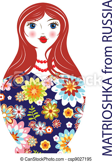 Traditional Russian matryoshka matrioshka doll - csp9027195