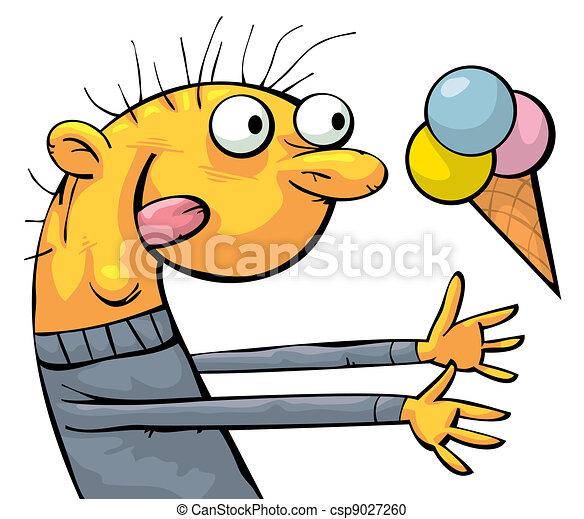 Funny ice cream eater - csp9027260