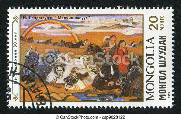 MONGOLIA - CIRCA 1989: stamp printed by Mongolia, shows animal, circa 1989