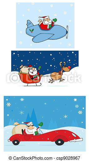 Santa Claus Characters - csp9028967