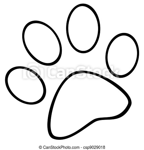 Outlined Paw Print - csp9029018