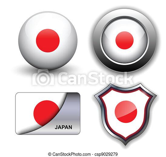 Japan icons - csp9029279