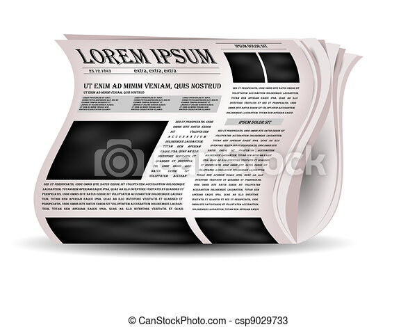 Vector newspapers and news icon. - csp9029733