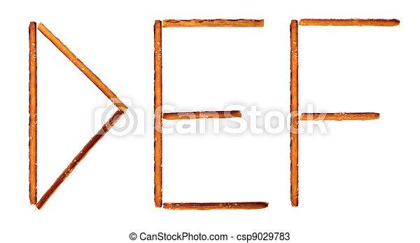 The alphabet from salty sticks - csp9029783