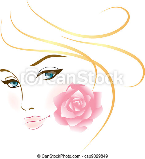 Beautiful Vector Girls And Logos From Stock Vector Beauty Face Girl