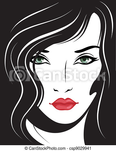 beautiful woman face - csp9029941