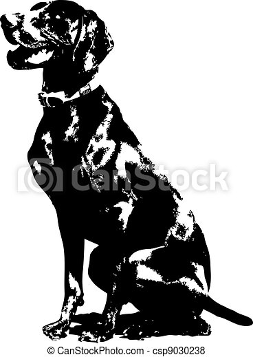 German Pointer Silhouette - csp9030238