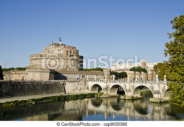 Sant Angelo Castle in Rome, Italy - csp9030366