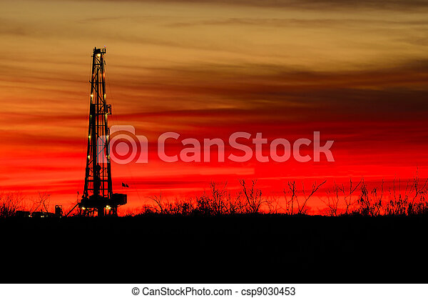 Rig and Sunset - csp9030453