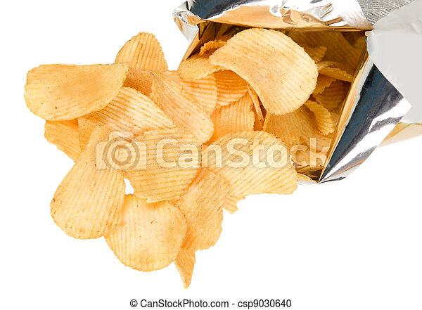 Tasteful chips from golden potatoes  - csp9030640
