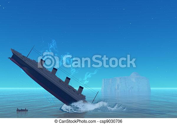 Titanic Sinking - csp9030706