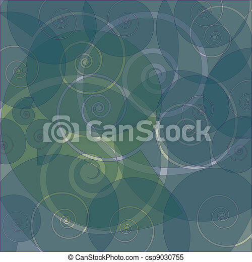 abstract swirly retro background - csp9030755