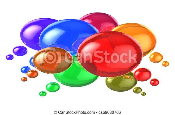 Social networking concept: colorful speech bubbles - csp9030786