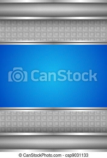 Background template, metallic texture, blue blank - csp9031133