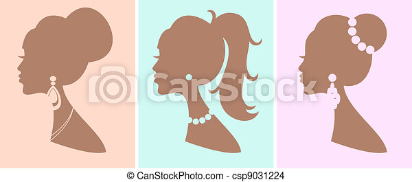 Elegant Female Hairstyles - csp9031224