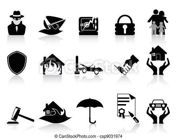 insurance icons set - csp9031974