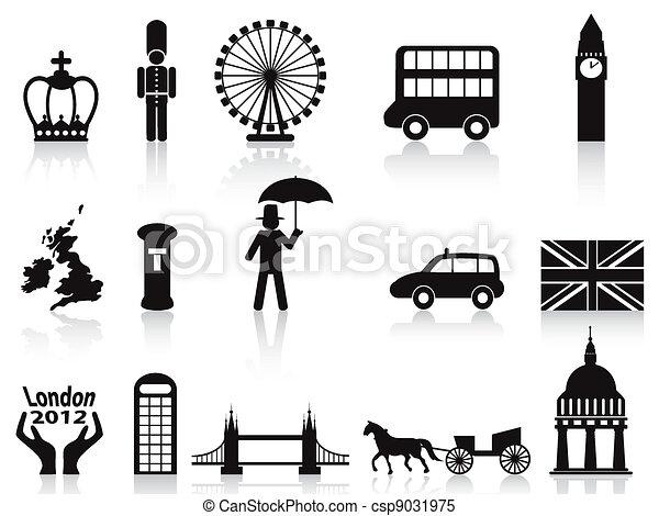 london icons set - csp9031975