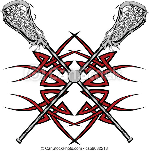 Lacrosse Sticks Graphic Vector  - csp9032213
