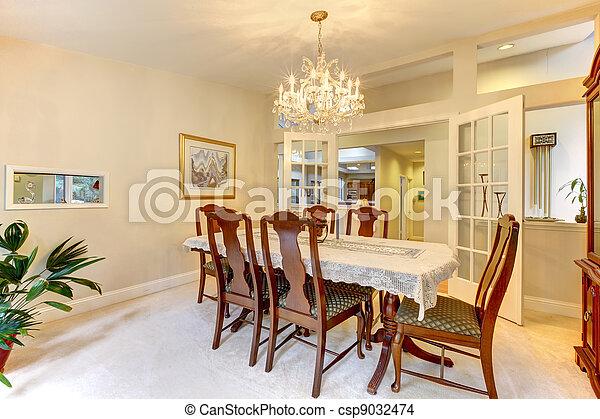 stock foto von essen amerikanische klassisch zimmer inneneinrichtung csp9032474. Black Bedroom Furniture Sets. Home Design Ideas