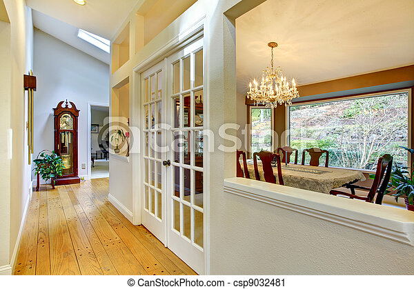 Large hallway and dining room inteior. - csp9032481