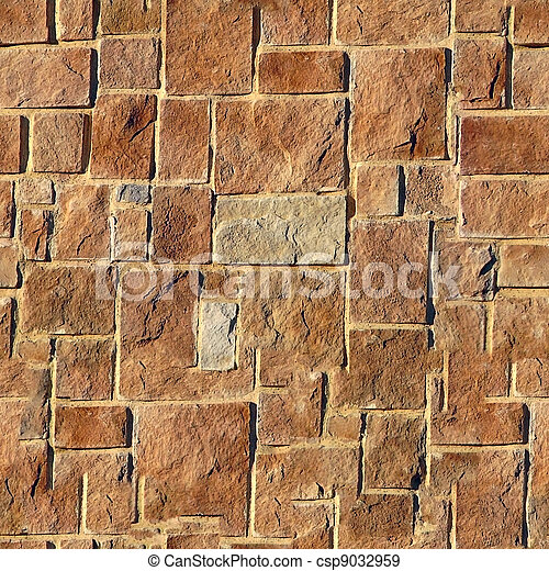 Brick seamless pattern. - csp9032959
