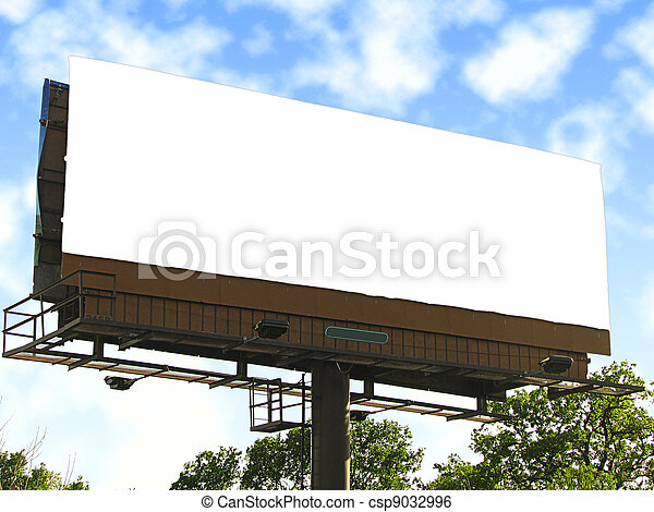 Large blank white billboard.  - csp9032996
