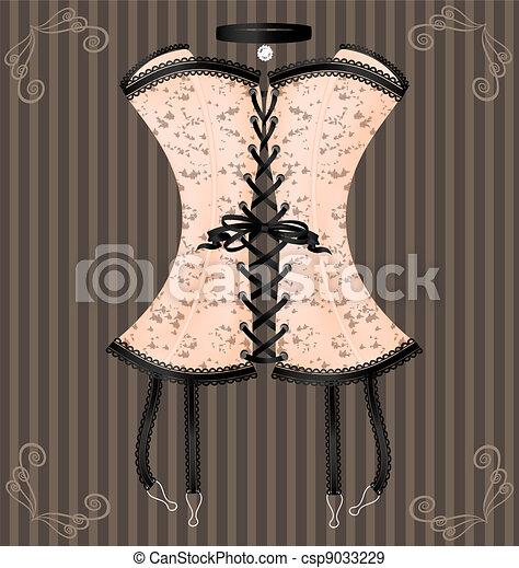 lady's beige corset - csp9033229