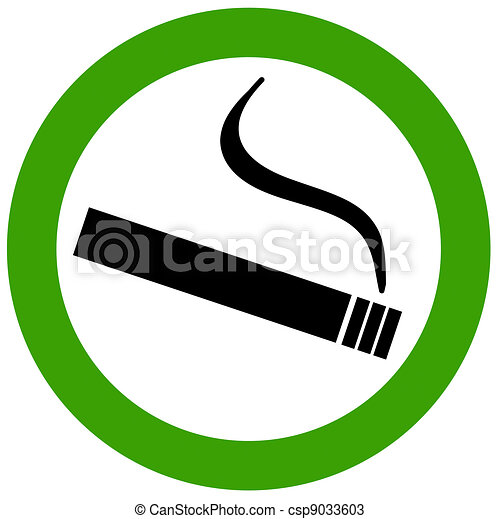Smoking area - csp9033603