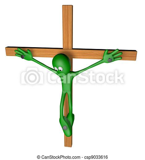 crucifixion - csp9033616
