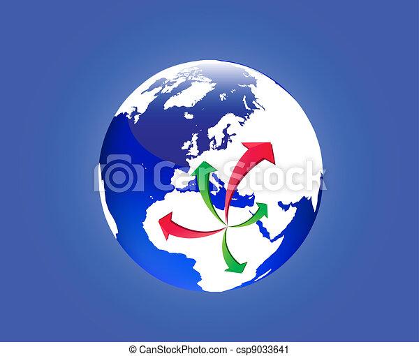 Emigration from Libya - csp9033641