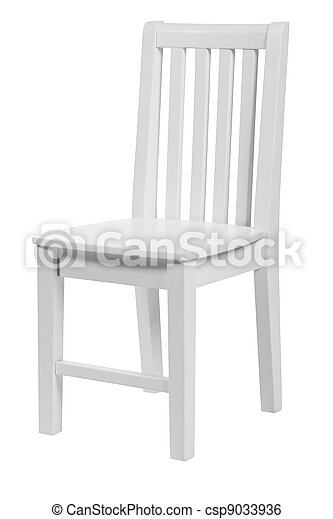 Wooden chair over white, - csp9033936