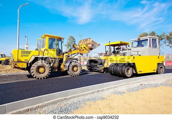 Road under construction - csp9034232