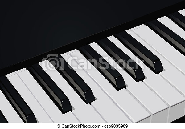 Piano keys - csp9035989