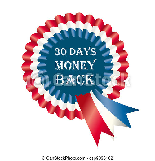 30 Days Money Back Guarantee Label - csp9036162